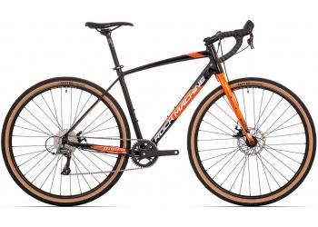 Rock Machine GravelRide 200 gloss black/brick orange/silver 2021