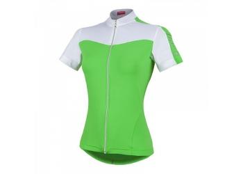 Dámský dres Nalini Aqua bílá/zelená