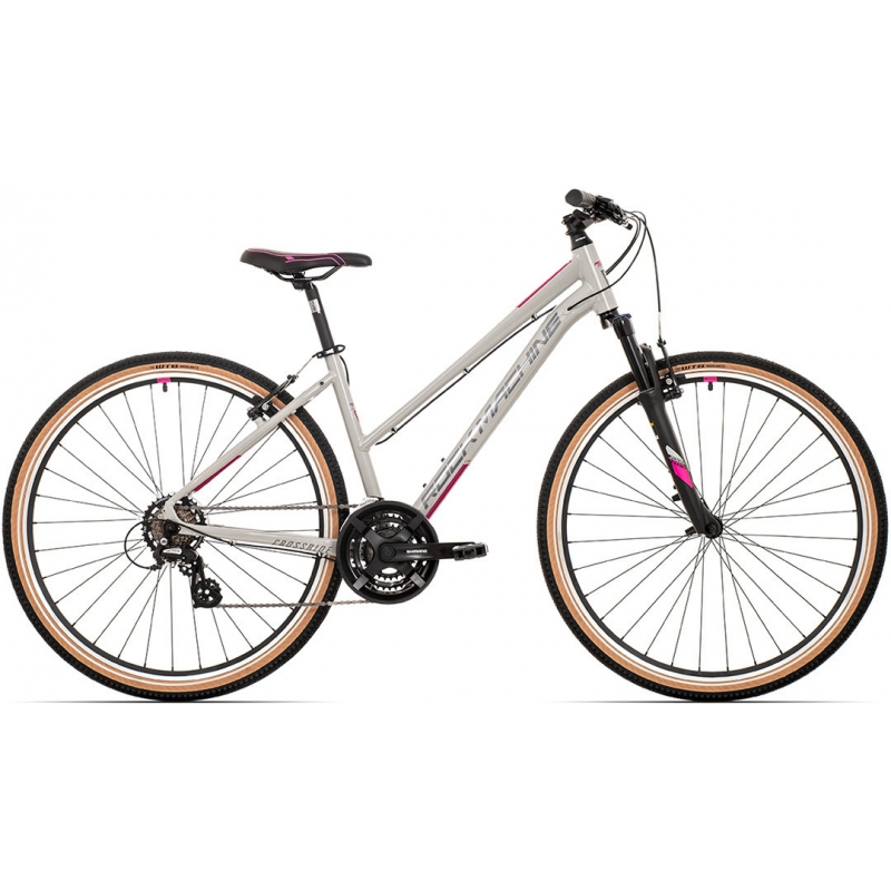 Rock Machine CrossRide 100 lady gloss light grey/dark grey/New pink 2021