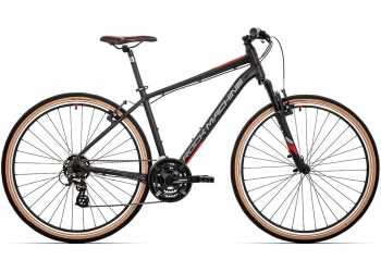 Rock Machine CrossRide 100 mat black/dark grey/brick red 2021